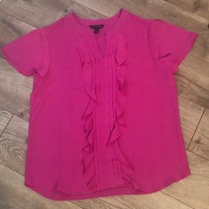 Banana Republic- bright pink blouse